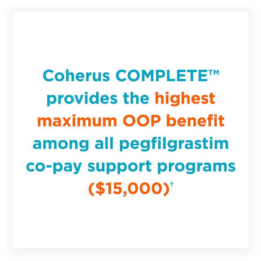 Coherus COMPLETE™ co-pay cost breakdown