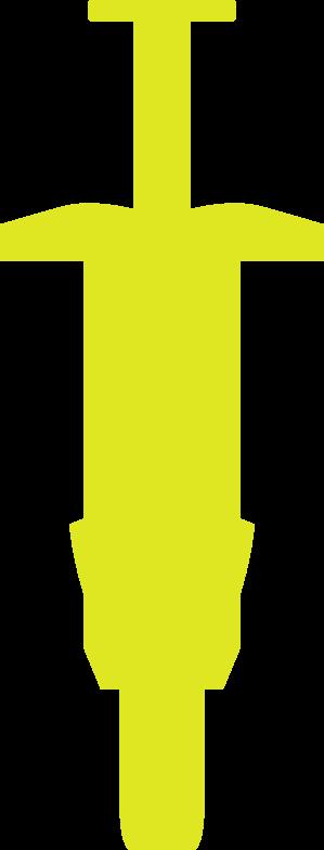 Yellow syringe